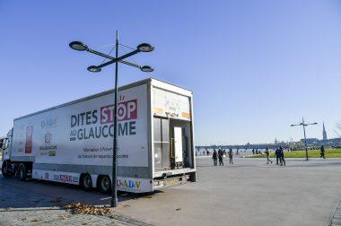 Le Bus du Glaucome à Bordeaux en décembre 2016
