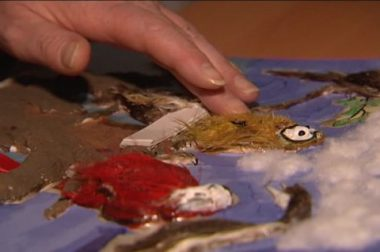 Une reproduction tactile de peinture fabriquée pour le musée