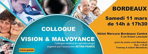 Affiche sur le colloque Retina France en mars 2017
