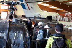 Devant un hélicoptère à Latresne