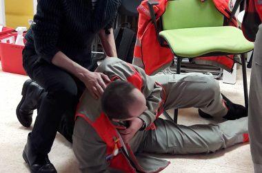 Lors de la formation aux 1ers secours