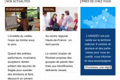Page de l'UNADEV avec texte plus gros et plus clair.