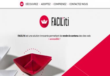 Page d'accueil du site FACIl'iti
