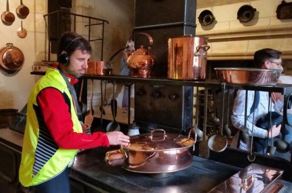 Samuel Chopard dans les cuisines du Clos Lucé
