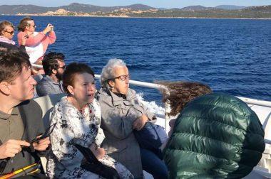Bénéficiaires sur un bateau vers la côte de Bonifacio
