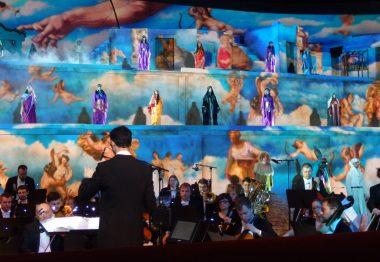 Orchestre fond bleu