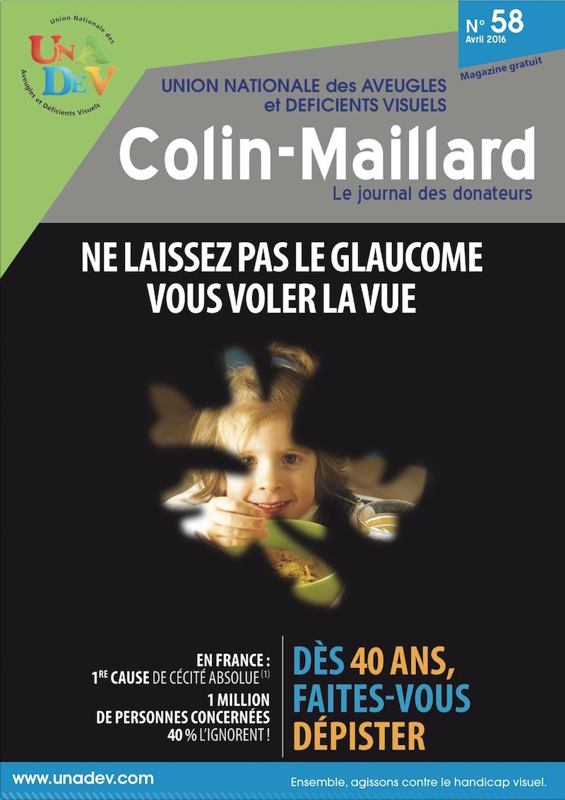 Couverture du magazine Colin Maillard 58