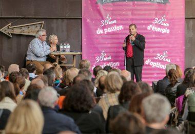 Franck Pruvost, non-voyant et adhérent UNADEV, à la Biennale du Réseau Entreprendre en 201