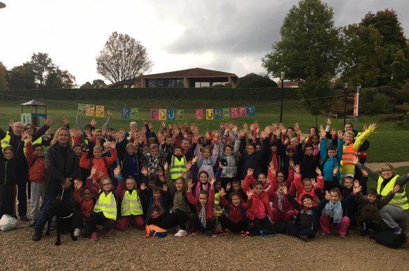 Un marchathon UNADEV réalisé à Bourg-en-Bresse en octobre 2016 (école Saint Joseph)