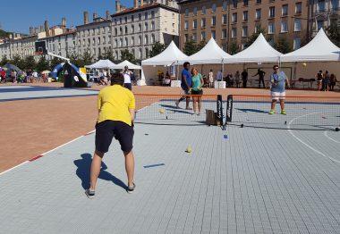 Démonstration de blind tennis