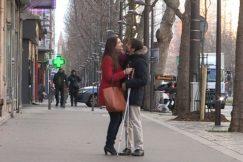 Ana et Olivier couple de non-voyants dans la rue
