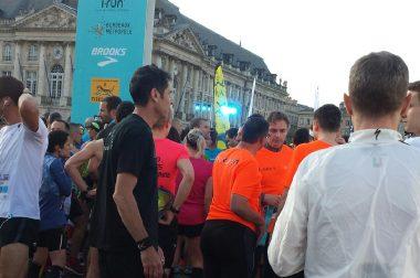 Christophe, malvoyant, et son guide Philippe avant le semi-marathon