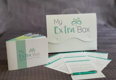 Valisette et fiches My extra box