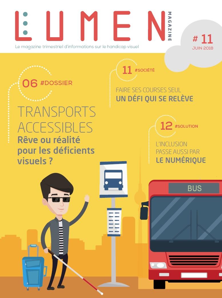 numéro 11 du magazine Lumen consacré au handicap visuel.