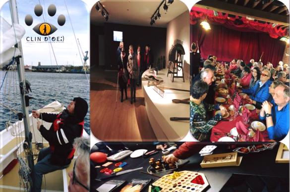 jeux, voile, diner... des activités proposées aux défcients visuels.