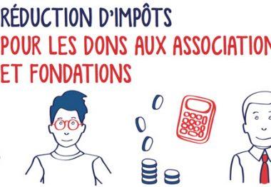 Visuel réduction d'impôts pour les dons aux associations