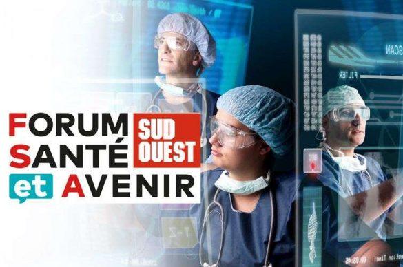 Affiche du forum santé et avenir avec des chirurgiens utilisant les nouvelles technologies