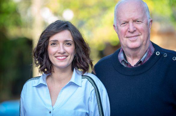 Vanessa et Jean-Pierre de l'UNADEV, qui s'occupent des legs, côte à côte
