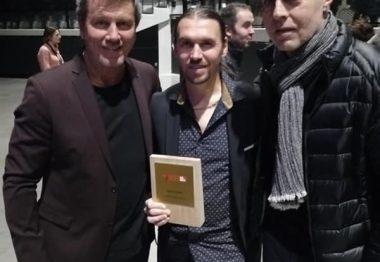 Trio de footballeurs : Pascal Olmeta, Frédéric Villeroux et Gaëtan Huard