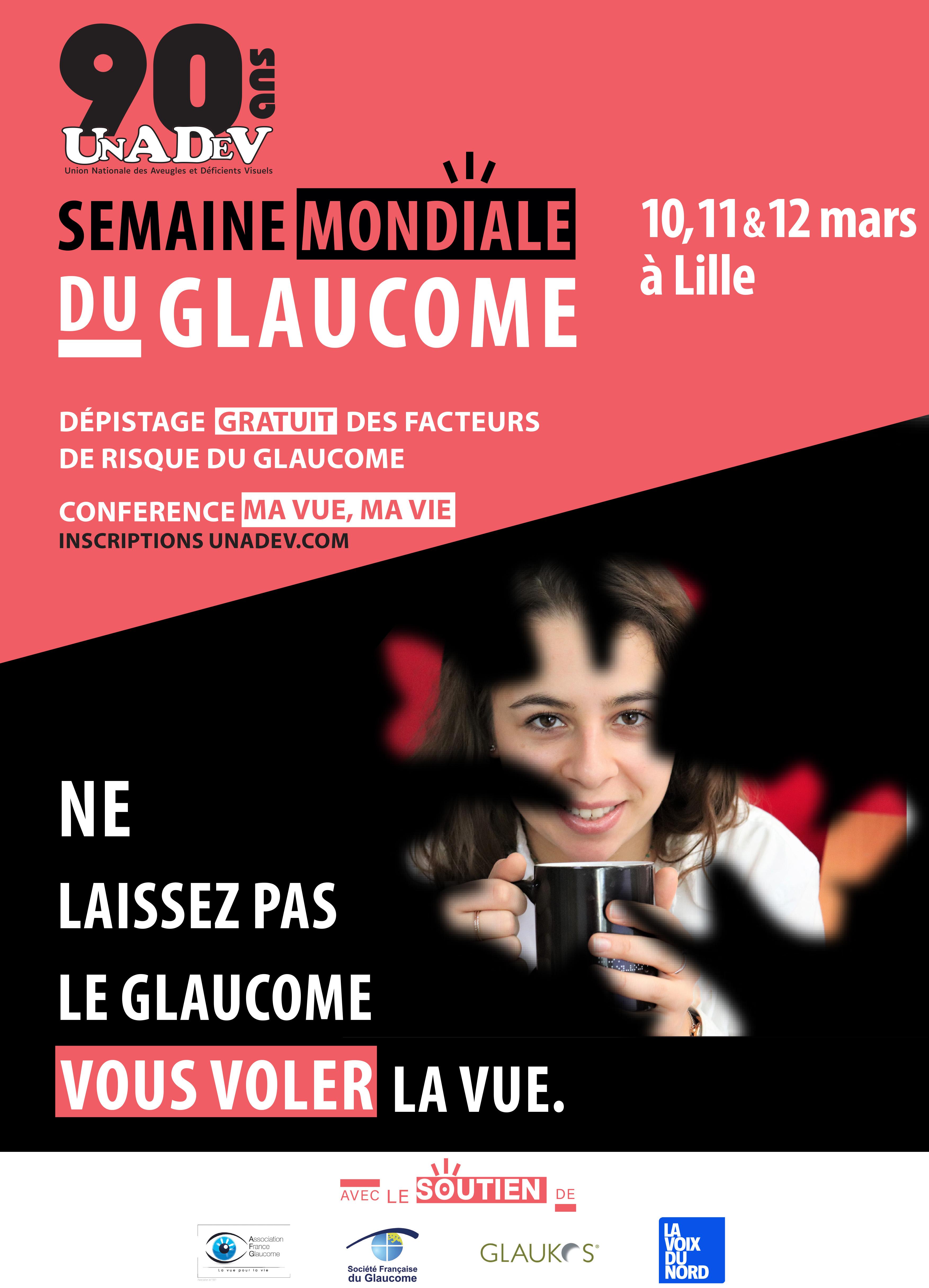 Affiche de la Semaine Mondiale du Glaucome 2020