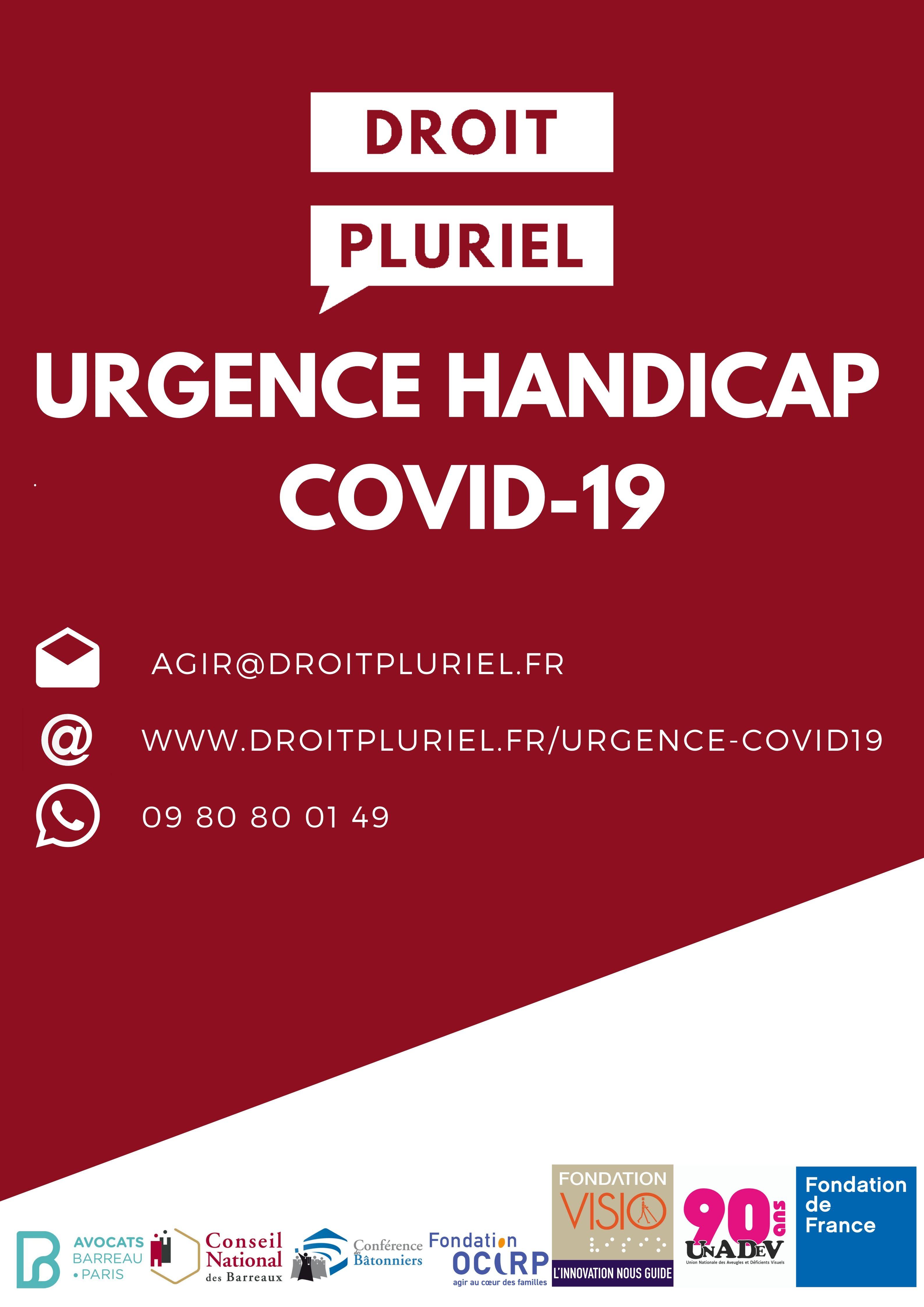 """Affiche de """"Urgence Handicap Covid-19"""""""