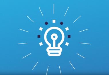Visuel avec une ampoule pour représenter l'innovation