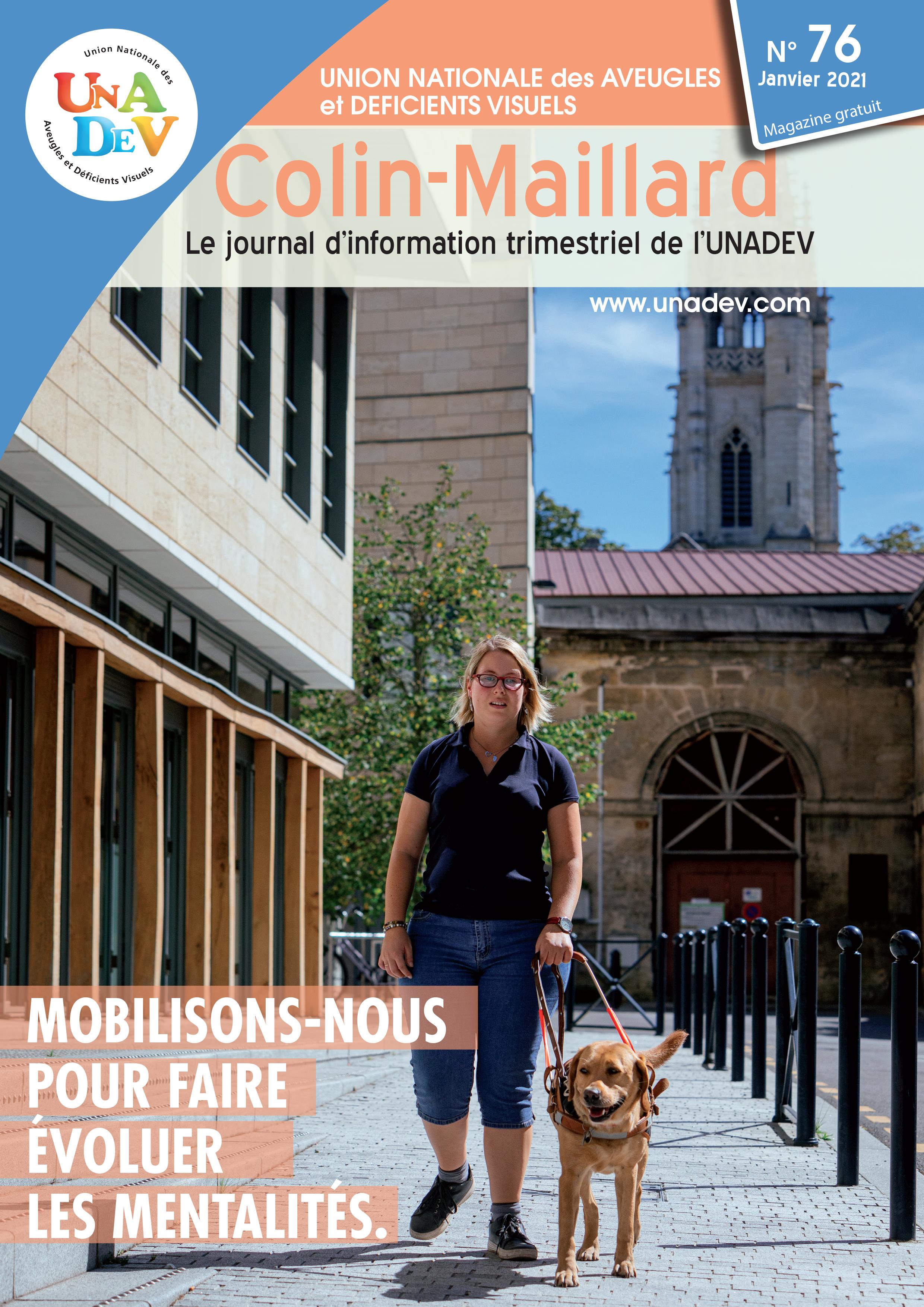 Couverture du magazine Colin Maillard n°76 de l'UNADEV