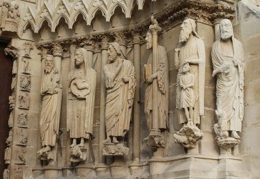 Sculptures extérieures de la cathédrale de Reims